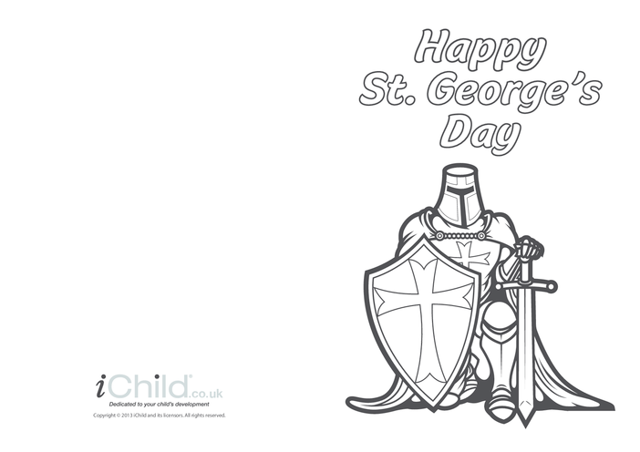 Thumbnail image for the St. George's Day Card: Knight in Armour activity.
