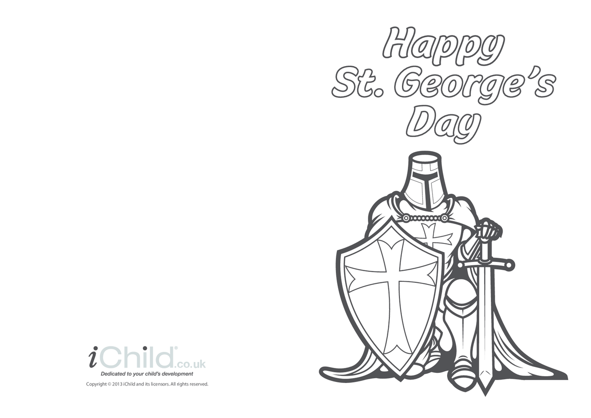 St. George's Day Card: Knight in Armour