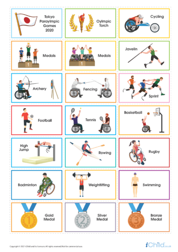 Thumbnail image for the Paralympics Large Sticker Sheet activity.