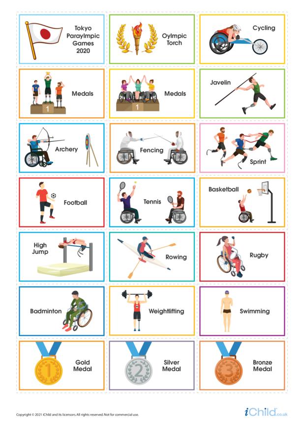 Paralympics Large Sticker Sheet