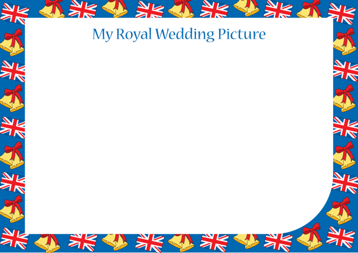 Thumbnail image for the Royal Wedding Blank Drawing Template activity.