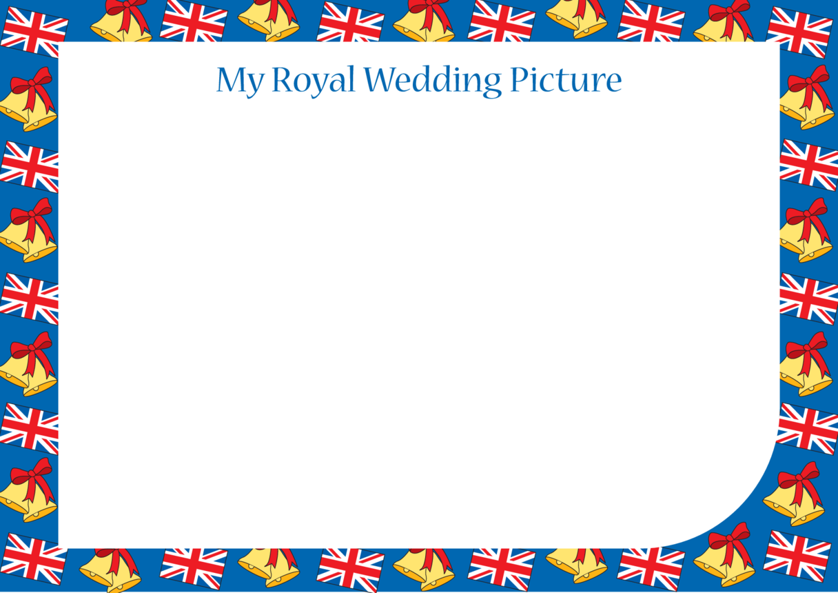 Royal Wedding Blank Drawing Template