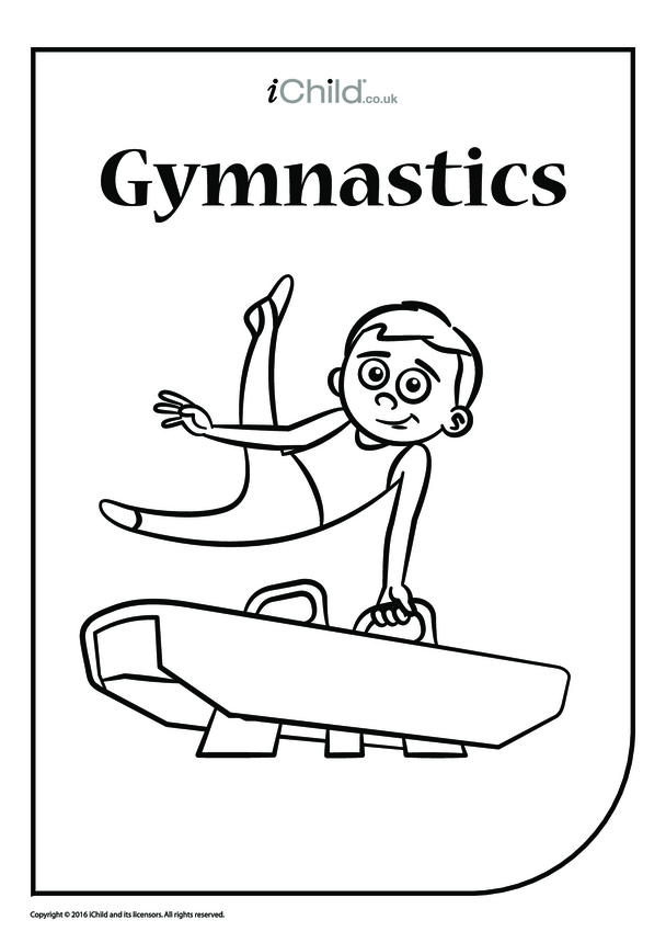 Pommel Horse Gymnastics Colouring in Picture