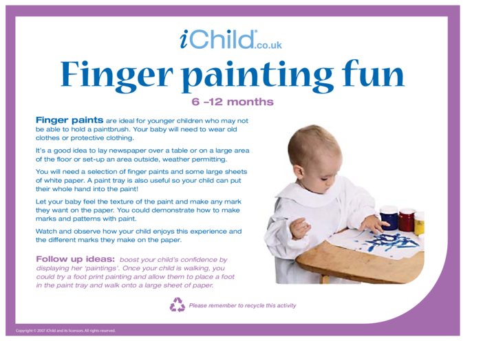 Thumbnail image for the Finger Painting Fun activity.