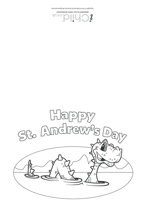 St. Andrew's Day Card: Loch Ness Picture