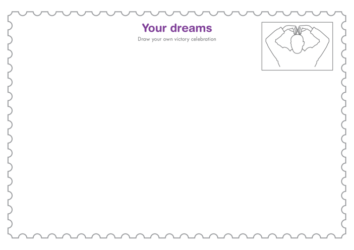 Thumbnail image for the Primary 4) Your Dreams- Victory Celebration Drawing Template activity.