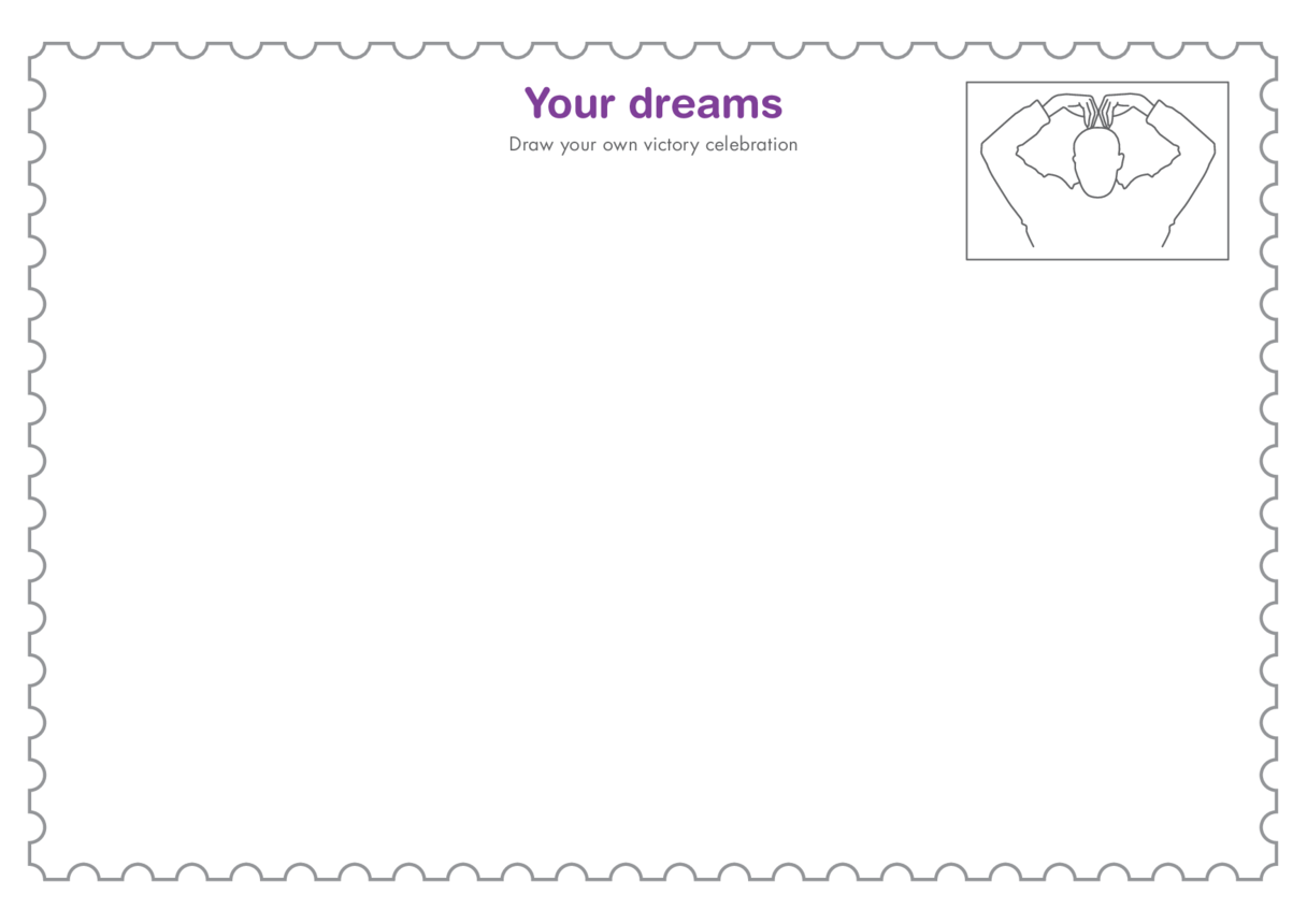 Primary 4) Your Dreams- Victory Celebration Drawing Template