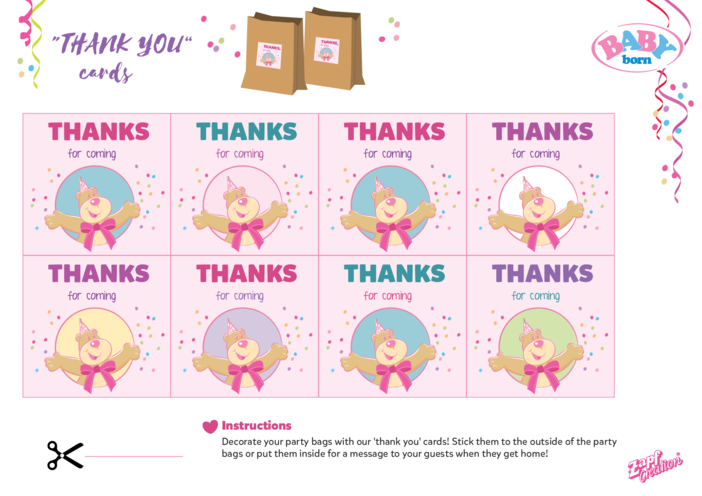 Thumbnail image for the 2021 BABY born Thank You Cards activity.