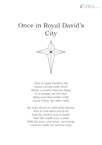 Thumbnail image for the Christmas Carol Lyrics: Once in Royal David's City activity.