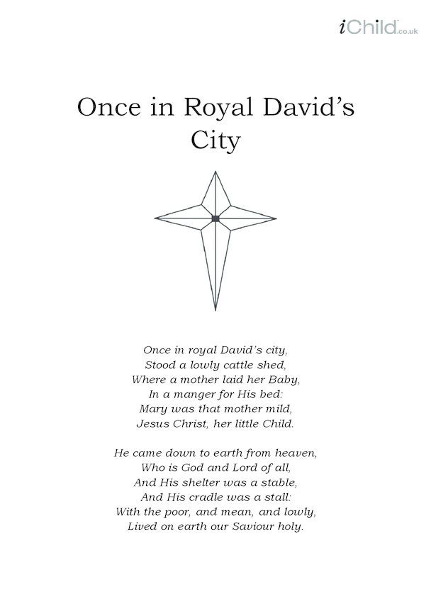 Christmas Carol Lyrics: Once in Royal David's City