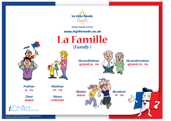 Thumbnail image for the Family in French activity.