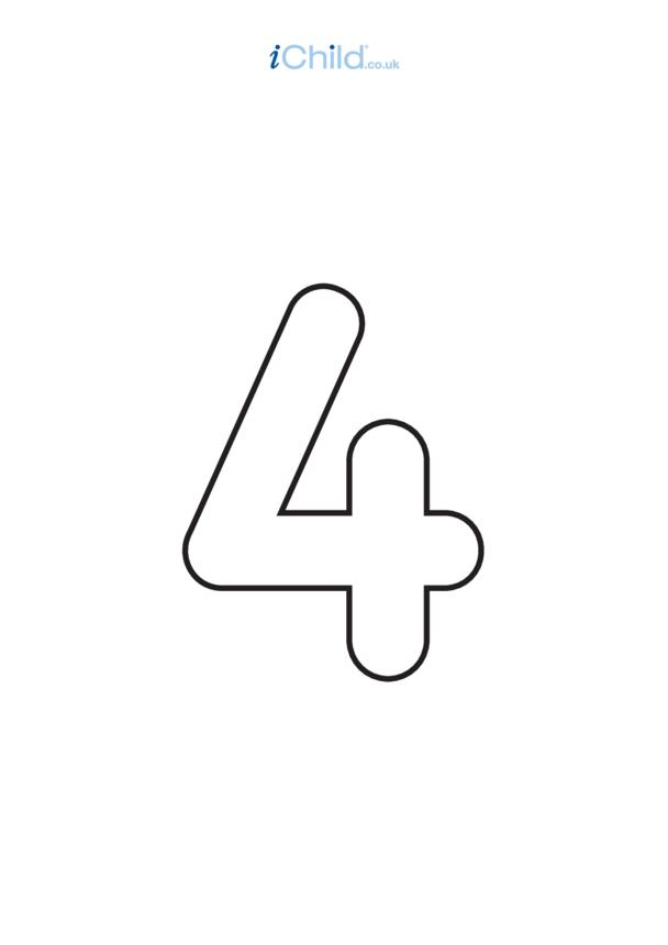 04: Poster - Number 4, Black & White