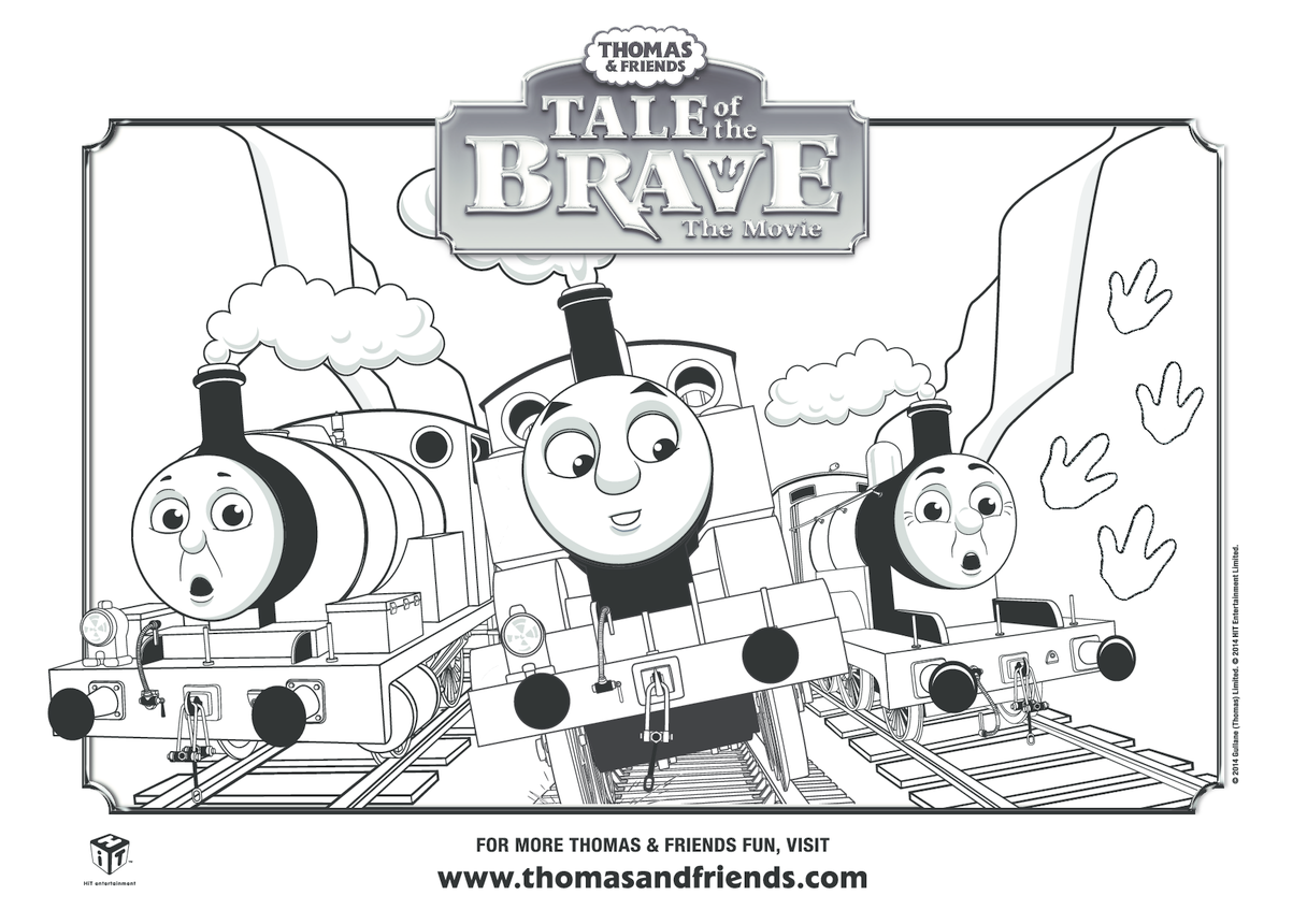 Tale of the Brave Thomas, Percy & James Colouring in Picture (Thomas & Friends)
