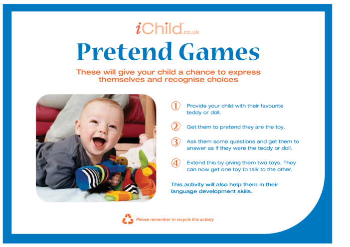 Thumbnail image for the Pretend Games activity.