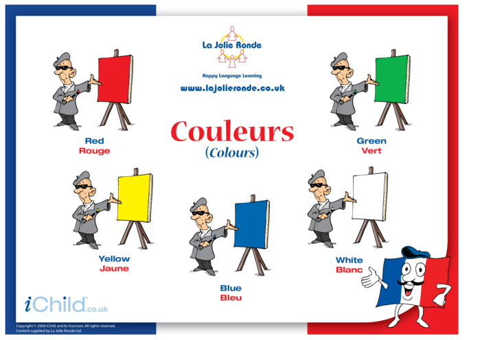 Thumbnail image for the Colours in French activity.