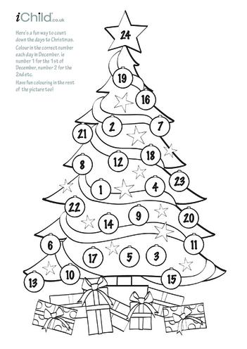 Thumbnail image for the Advent Calendar Christmas Tree activity.