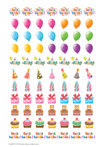 Thumbnail image for the Birthday Reward Chart Stickers activity.
