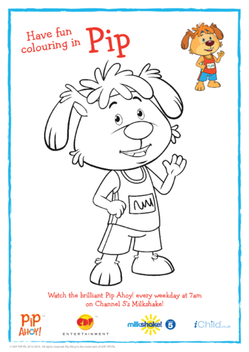 Thumbnail image for the Athlete Pip Colouring in Picture (Pip Ahoy!) activity.
