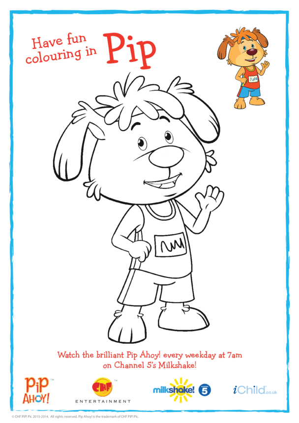 Athlete Pip Colouring in Picture (Pip Ahoy!)