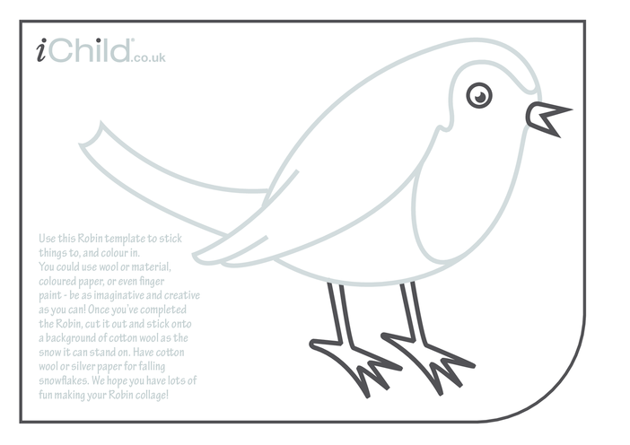 Thumbnail image for the Robin Collage activity.