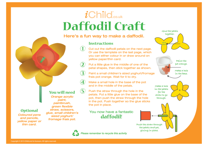 Thumbnail image for the Daffodil Craft activity.