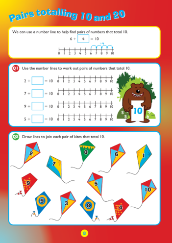 Thumbnail image for the Collins Easy Learning KS1 Maths Addition, Adding Pairs of Numbers activity.
