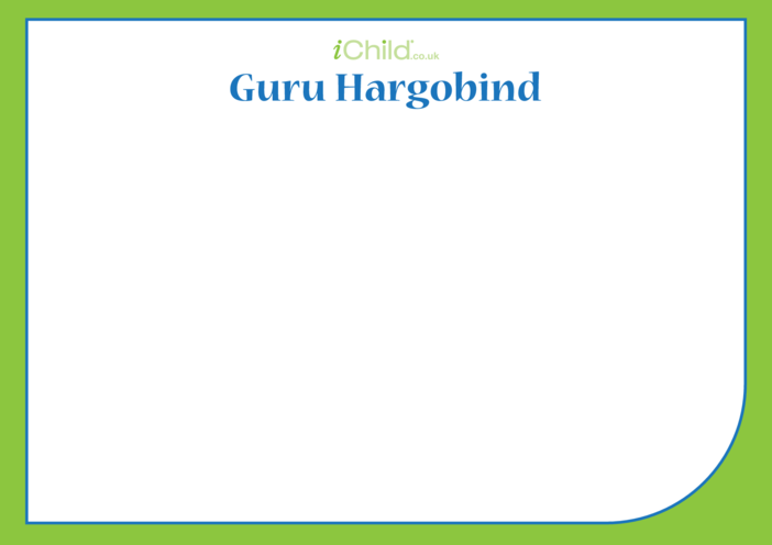 Thumbnail image for the Guru Hargobind Blank Drawing Template activity.