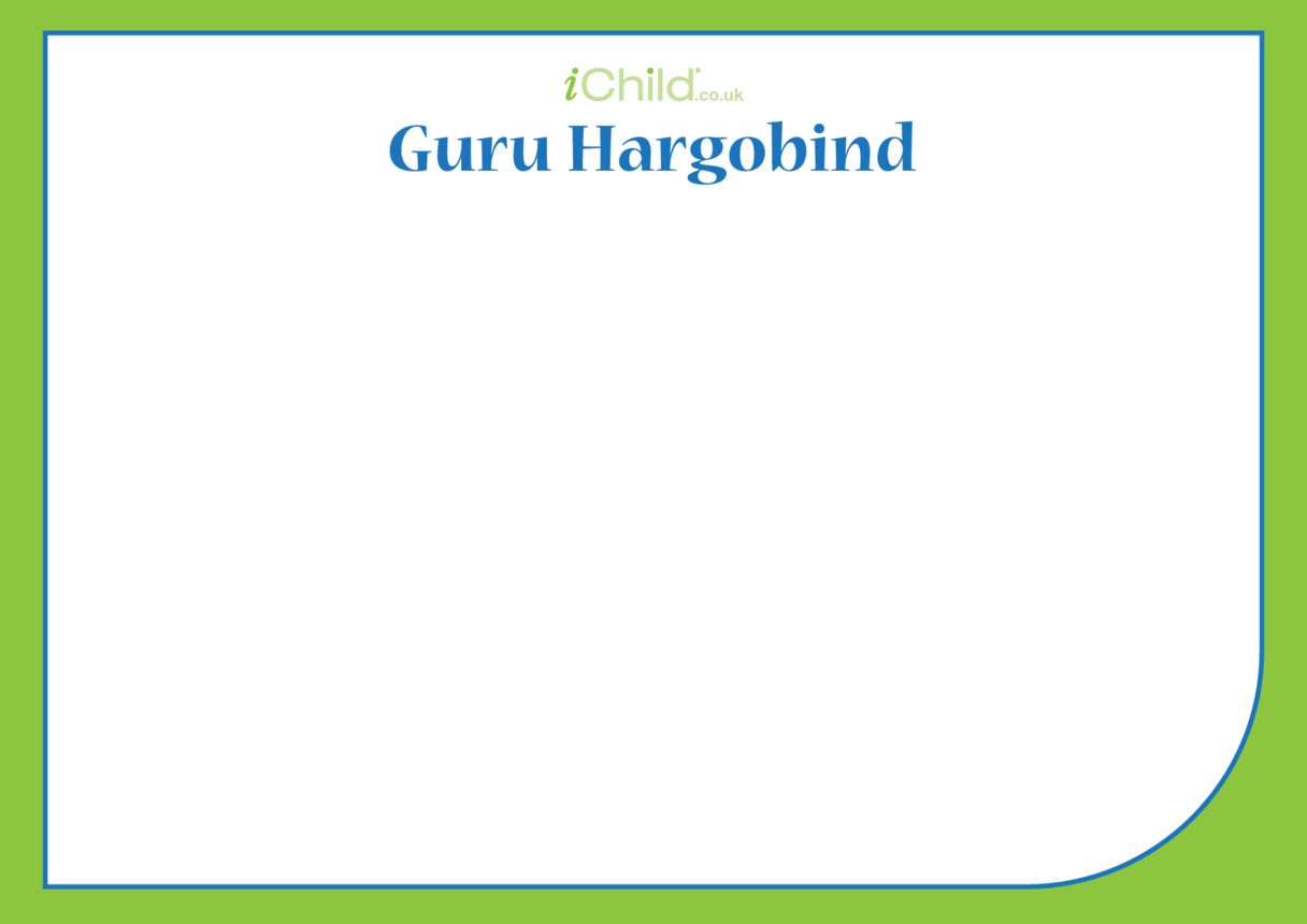 Guru Hargobind Blank Drawing Template