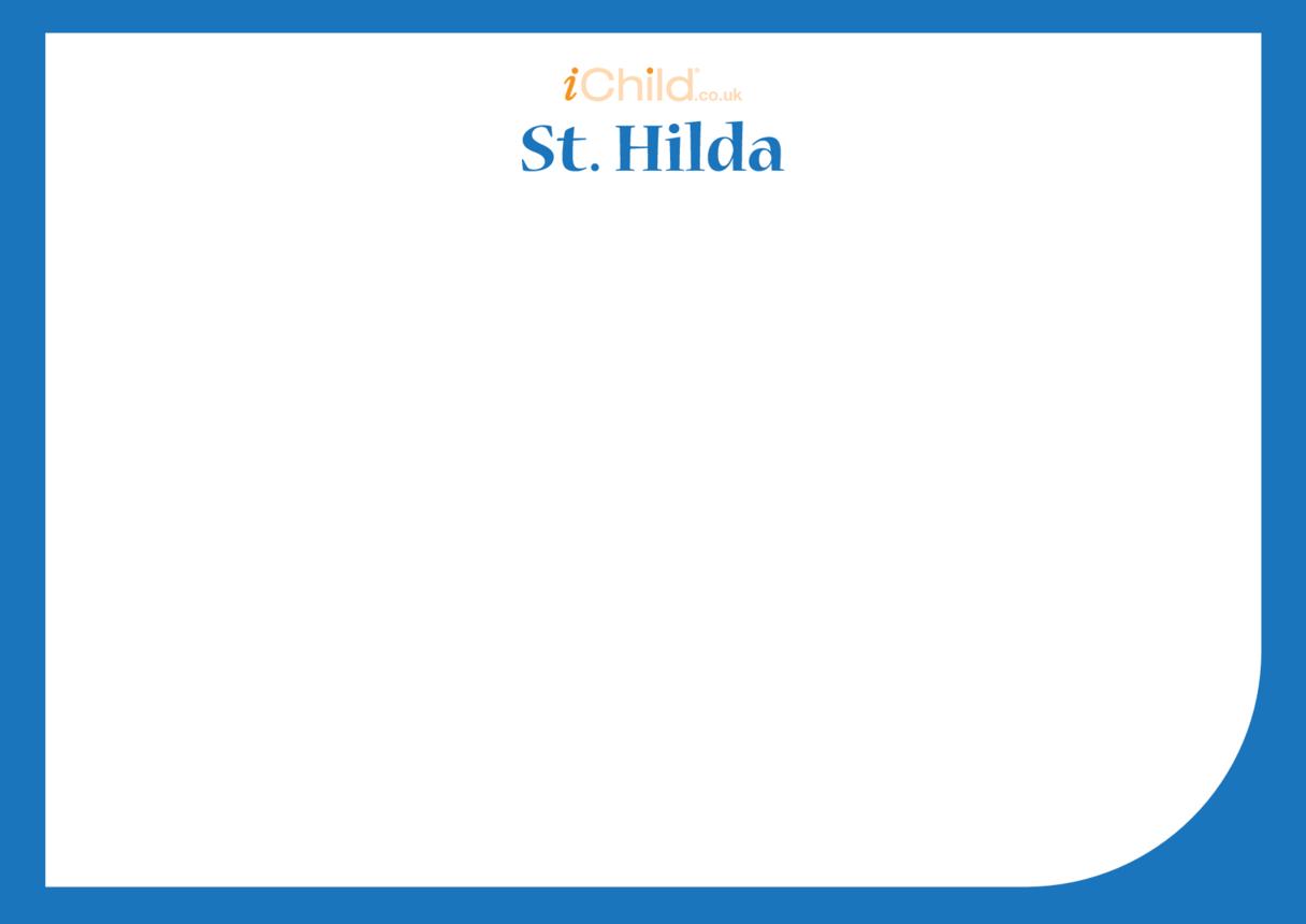 St. Hilda Blank Drawing Template