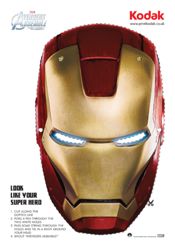 Thumbnail image for the Iron Man Face Mask activity.