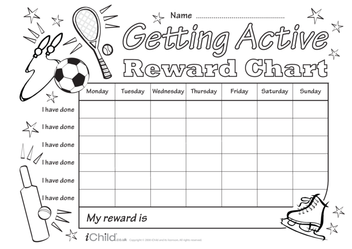 Thumbnail image for the Getting Active Reward Chart activity.