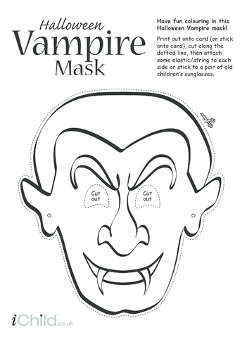 Thumbnail image for the Halloween Vampire Mask activity.