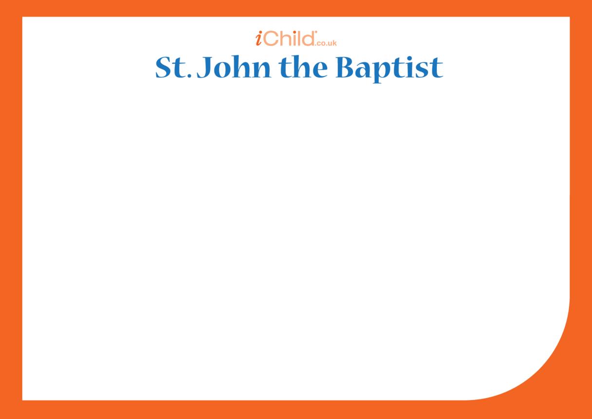 St. John the Baptist Blank Drawing Template