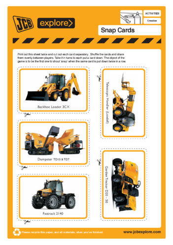 Thumbnail image for the JCB Snap activity.