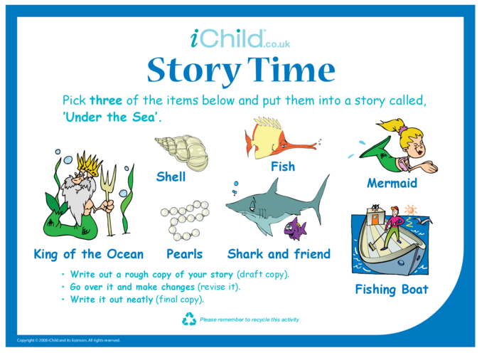 Thumbnail image for the Story Time - Sea activity.