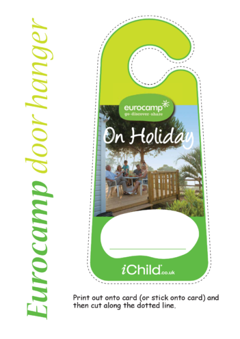Thumbnail image for the On Holiday - Door Hanger activity.