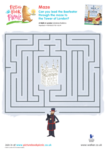Thumbnail image for the Walk in London Maze Puzzle activity.
