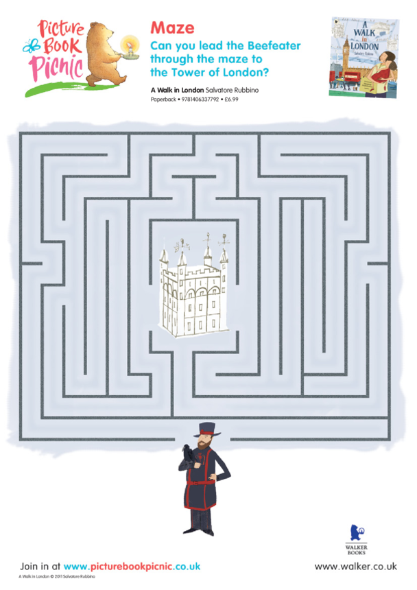 Walk in London Maze Puzzle