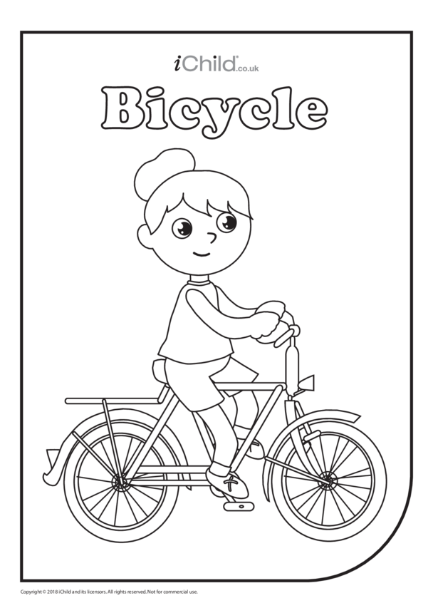 Bicycle Colouring in Picture