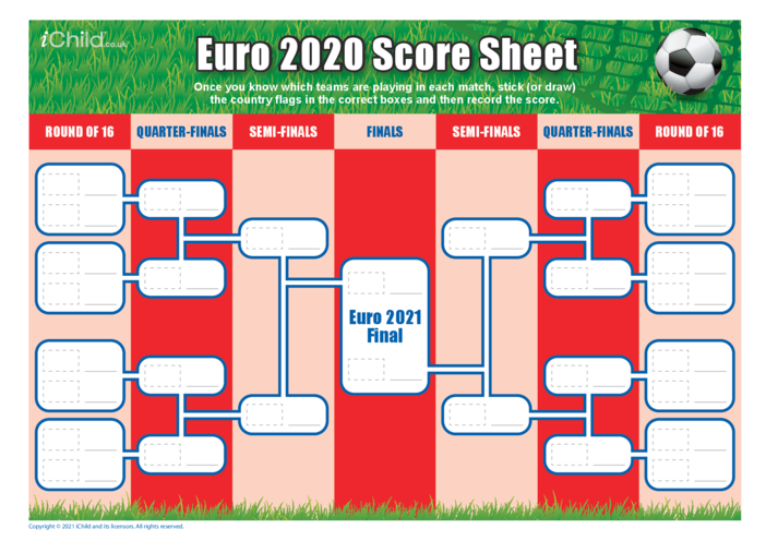 Thumbnail image for the Euro 2021 Score Sheet activity.