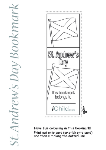 Thumbnail image for the St. Andrew's Day Bookmark activity.