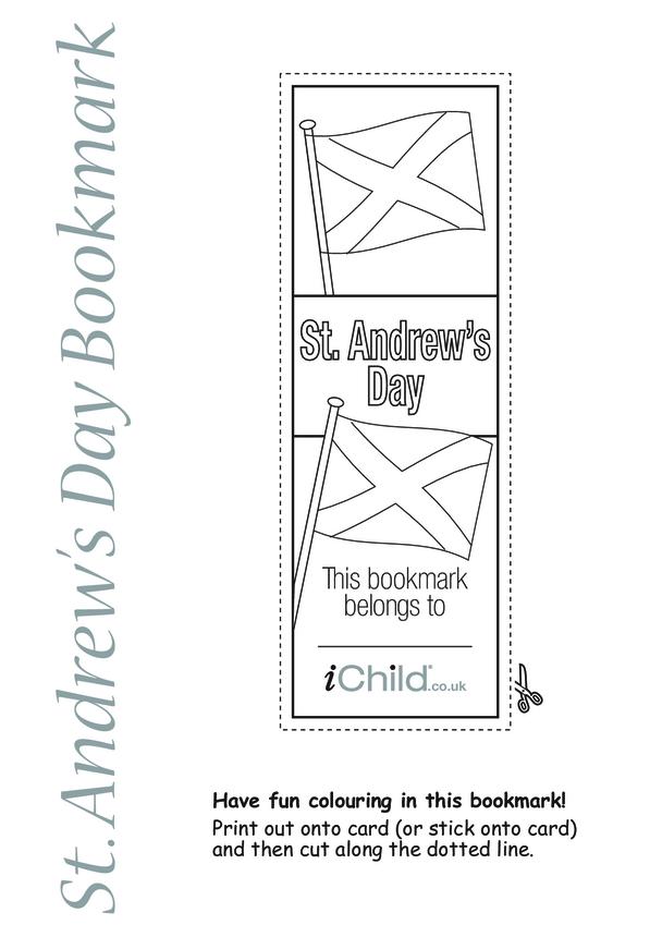 St. Andrew's Day Bookmark