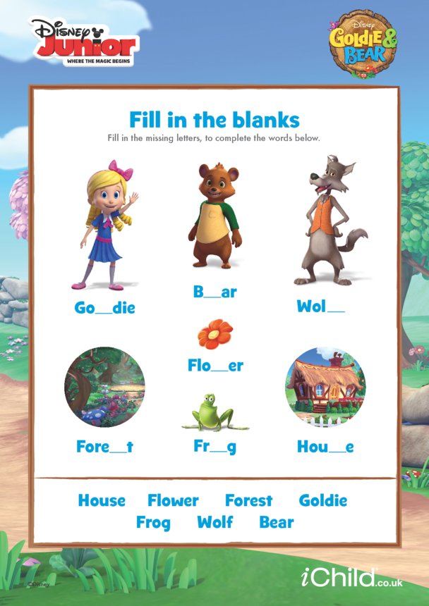 Goldie & Bear: Fill in the Blanks- Disney Junior