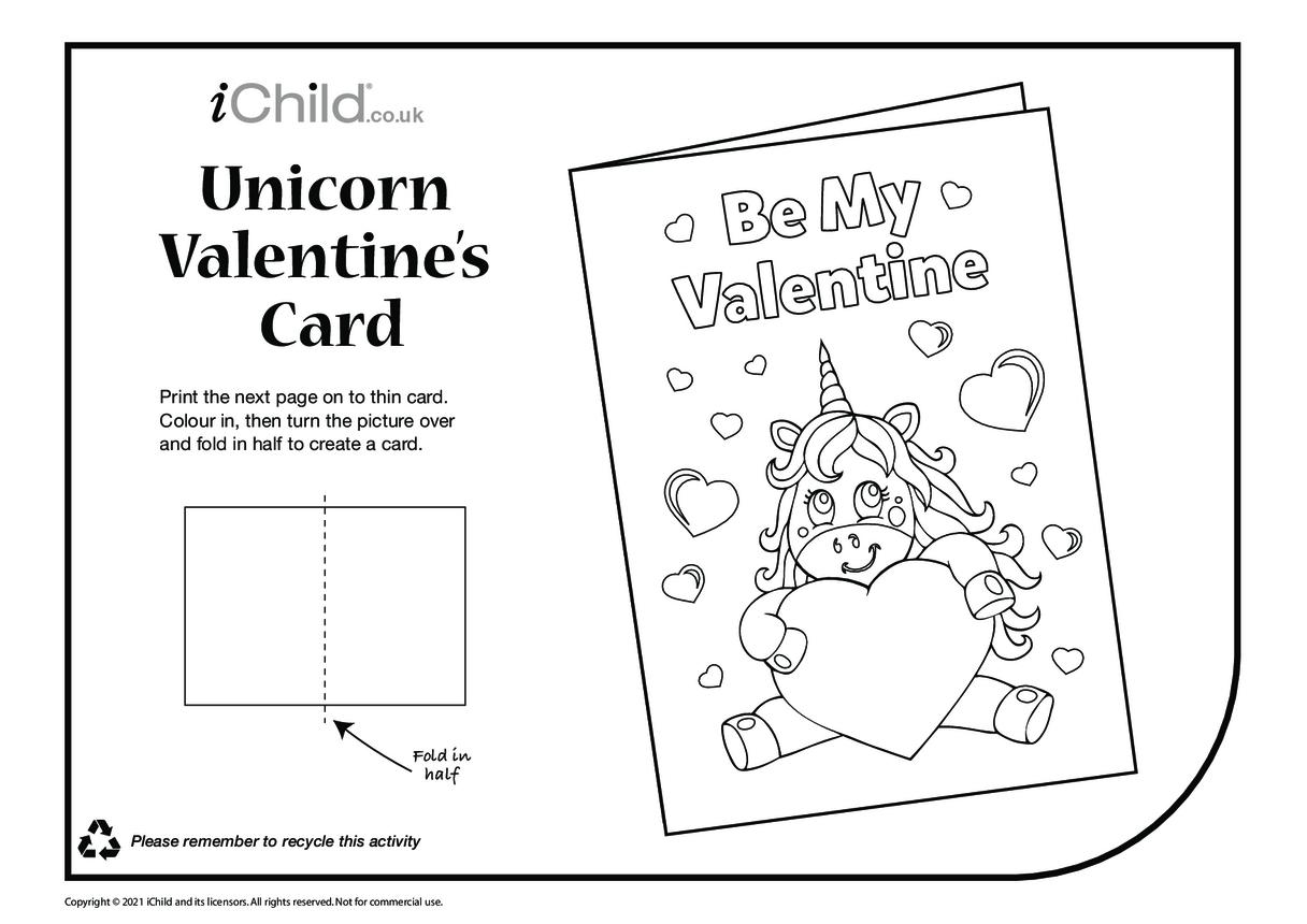 Be my Valentine Unicorn Card