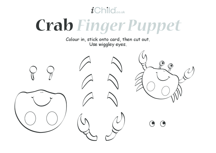Thumbnail image for the Crab Finger Puppet activity.