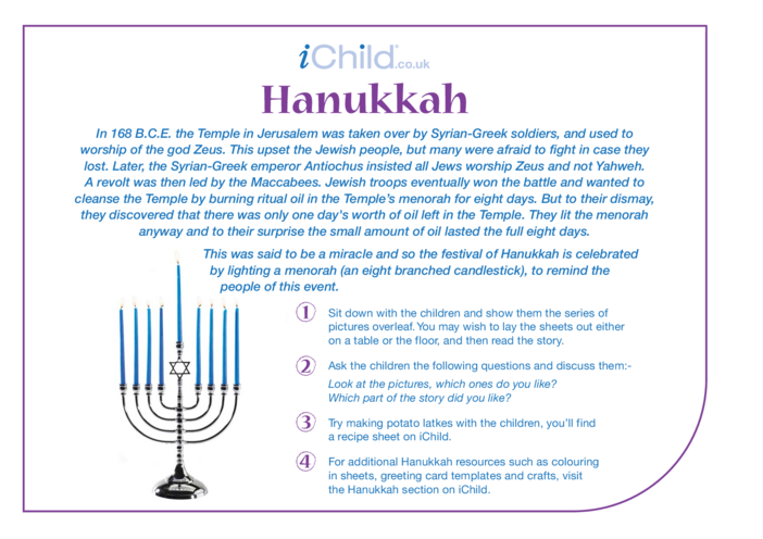 Thumbnail image for the Hanukkah Religious Festival Story activity.