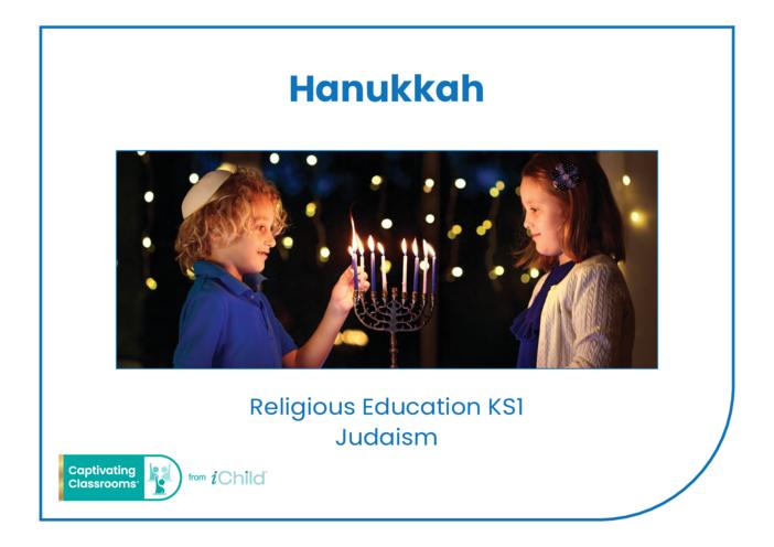 Thumbnail image for the Hanukkah Religious Festival Story activity.