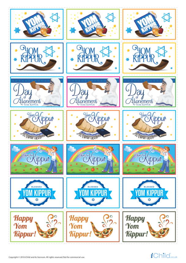 Yom Kippur Large Sticker Sheet