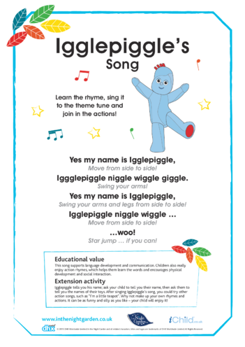 Thumbnail image for the Igglepiggle's Song activity.