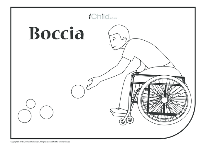 Thumbnail image for the Boccia Colouring in Sheet activity.